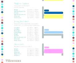 Sheet Measurement Chart Bed Sheet Sizes Chart In Feet 90100 Size Double Inches Home