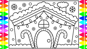 christmas house template coloring pages string of christmas lightsoring page house