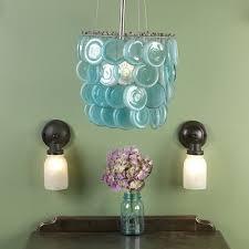 repurposed lighting fixtures. Mason Jars Are Repurposed Into A Charming Chandelier - 20 Unique Lighting Fixtures D