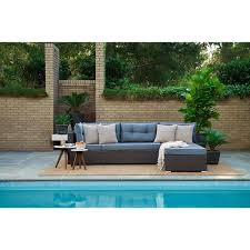 lifestyle solutions relax a lounger pacifica outdoor convertible sofa in blue