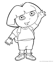 Small Picture Dora the Explorer color page Coloring pages for kids Cartoon