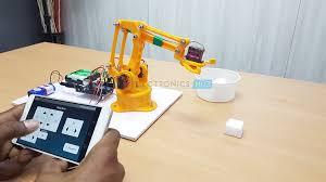 diy arduino bluetooth controlled robotic arm image 1