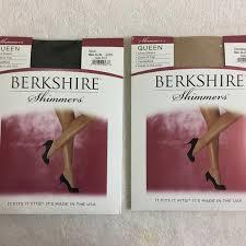 2 Pk Berkshire Shimmer Stockings Nylons New Queen