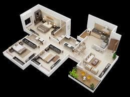 25 more 3 bedroom 3d floor plans architecture design
