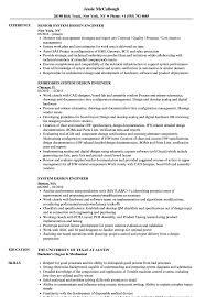 Design Engineer Resume Sample System Design Engineer Resume Samples Velvet Jobs 1