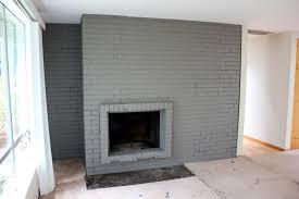 Gray Brick Fireplace Cool Paint Brick Fireplace On Gray Painted Brick Fireplace Paint