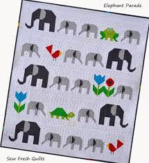 Elephant Parade Baby Quilt Pattern | FaveQuilts.com & Elephant Parade Baby Quilt Pattern Adamdwight.com