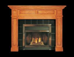 interior brown wooden fireplace mantel with stainless firebox and black tile surround awesome look