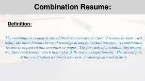 Resume Functional Format Socbizco Combination Resume