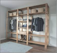 Traditional Bedroom with Unfinished Wood Closet Organizer Light