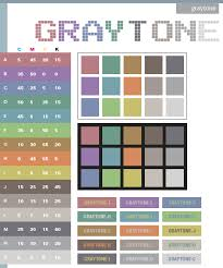 Gray tone color scheme ...