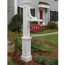 White Address House Numbers Address Plaques Bellacor