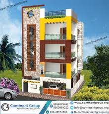 3d front elevation modern duplex house 3d building