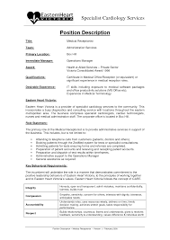 Medical Receptionist Job Description Receptionist Job Description Resume Resume Badak 23