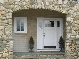 cottage front doorsCottage Front Door with Transom window  Glass panel door in
