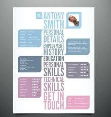 Visual Resume Templates Custom Visual Resume Template Best Visual Resumes Images On Resume Visual