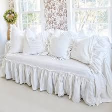 slipcover ruffled slipcover sofa cover