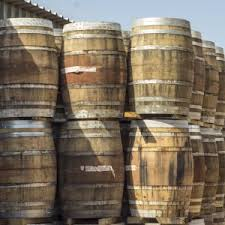 oak barrels stacked top. Oak Barrels Stacked Up Top C