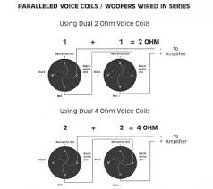how to wire a subwoofer hubpages one 4 ohm single voice coil sub wired at a 4 ohm load