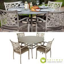 hartman cast aluminium celtic aria 4 seater round dining set