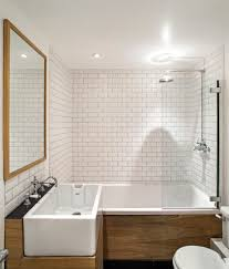 mid century modern bathroom tile. Plain Tile Mid Century Modern Bathroom Tile White Free Standing Soaking Bathtub Metal  Wall Lovable Black Stained For 4