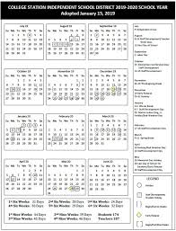 College Station School Board Approves 2019 2020 Calendar Wtaw