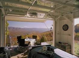 tiny house with garage. Mountaintop Tiny House Garage Door View Residential Home With L