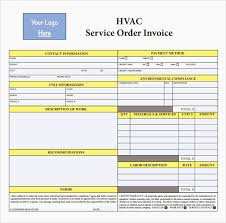 Example Of Invoice Delectable 48 Lovely Hvac Maintenance Agreement Template Sample Invoice For