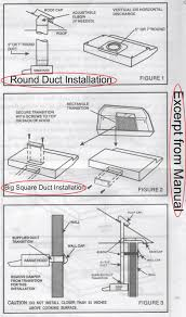 Hood Range Installation Range Hood Duct Home Appliances Decoration