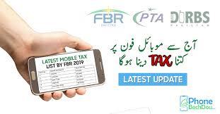 Fbr Mobile Tax List 2019 Latest Fbr Mobile Tax Rates On