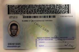 Wisconsin Id-chief Scannable Fake Id Maker Cards