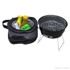 best round portable barbecue roasting tools outdoor camping picnic charcoal bbq grills under 46 23 dhgate com