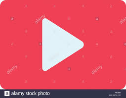Youtube Icon Template Youtube Paly Video Player Flat Color Icon Vector Icon