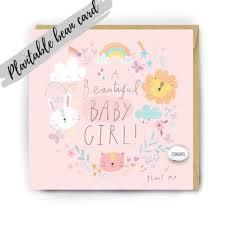 Handmade Congratulations Baby Girl Magical Bean Card Congratulations Card New Baby Card Baby Girl Card New Baby Girl Card New Baby Gift