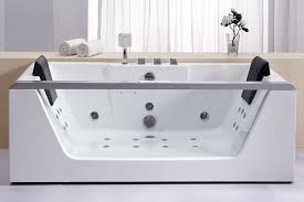 eago am196 6 clear rectangular whirlpool bath tub for two with fixtures expressdecor com