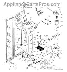 ge wr49x10091 refrigerator damper assembly appliancepartspros com part diagram