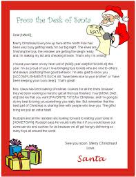 Official Letter From Santa Template Barca Fontanacountryinn Com