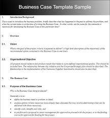 Business Case Template Business Case Template Case Study