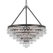 calypso 8 light crystal teardrop bronze chandelier