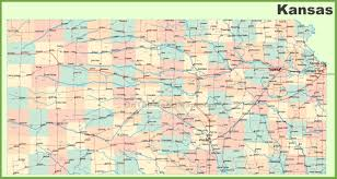 kansas road map road map of kansas with cities road map of