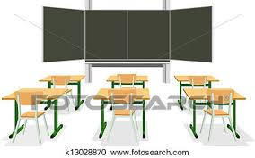 classroom table vector. clipart - vector illustration of an empty classroom. fotosearch search clip art, classroom table l