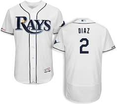 Yandy Size Chart Yandy Diaz Tampa Bay Rays 150th Anniversary Home On Field Jersey By Majestic