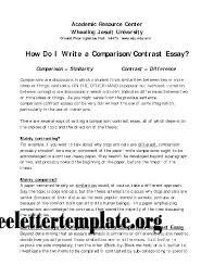 Essay Of Comparison And Contrast Examples Compare And Contrast Essay Template Jtmartin Co