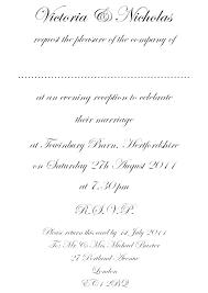 Wedding Invitation Examples Formal Etiquette Marriage Invitation