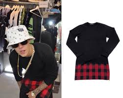 Small Picture JUSTIN BIEBER FASHION PUZZLE LS LAYERED ZIP TEE IN BLACK