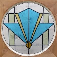 1930s art deco stained glass door
