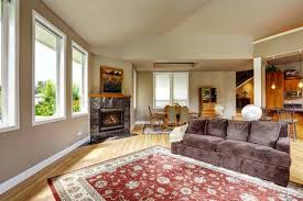 Hardwood Floors Living Room Interesting Spacious Living Room With High Vaulted Ceiling And Hardwood Floor