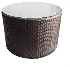 coffee table outdoor wicker round coffee table with glass top tall round table contemporary outdoor
