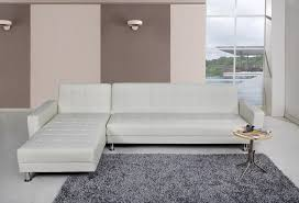homeday spencer corner sofa bed with interchanging chaise in white faux leather