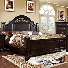 amazon bedroom furniture sets. syracuse transitional dark walnut queen size bed amazon bedroom furniture sets s